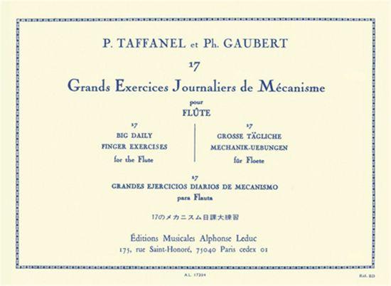 TAFFANEL/GAUBERT:GRANDE EXERCICES JOURNALIERS DE MECANISME