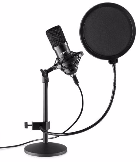 VONYX CMTS300 Studio Microphone USB Set Black
