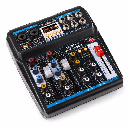 VONYX VMM-P500 4-Channel Music Mixer with DSP/USB and MP3/BT
