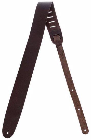 PAS ZA KITARO PLANET WAVES BASIC LEATHER GUITAR STRAP BROWN