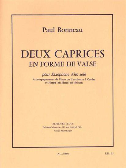 BONNEAU:DEUX CAPRICES EN FORME DE VALSE SAX