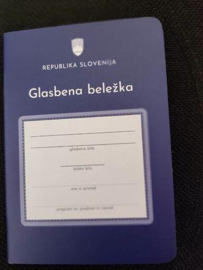 KONTROLNA KNJIŽICA , OBR. 1,98/GLASBENA BELEŽKA