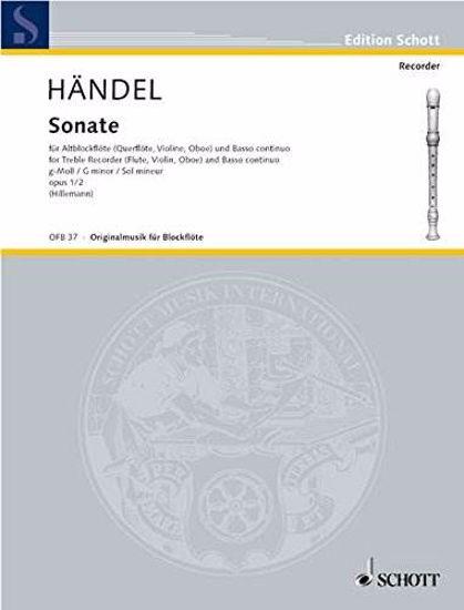 HANDEL G.F:SONATE N.2 G-MOLL OP.1