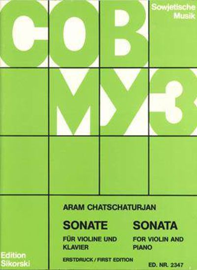 KHACHATURIAN:SONATE FUR VIOLINE AND PIANO